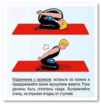 упражнение для позвоночника с валиком