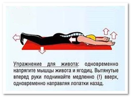 упражнение для живота и позвоночника