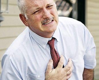 Боль в грудине посередине отдает в спину