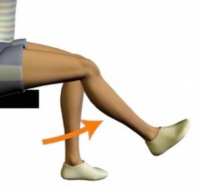 динамические упражнения для колена