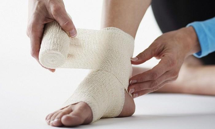 Бинтование эластичным бинтом лучезапястного сустава парафин на тазобедренные суставы ребенку
